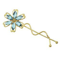 Colorful Rhinestone Flower Barrettes Hairpin -