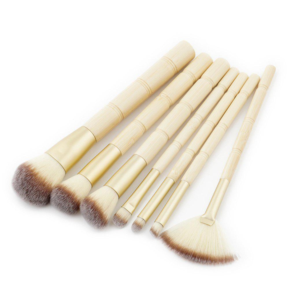 7PCS Bamboo Kit Кисти Kit Kit Eyeshadow Beauty Cosmetic Brush Set