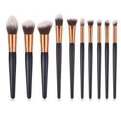 10PCS Beauty Makeup Kit Eyeshadow Powder Face Make Brush Set -