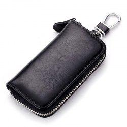 Multi-function Car Leather Business Zipper Key Case -