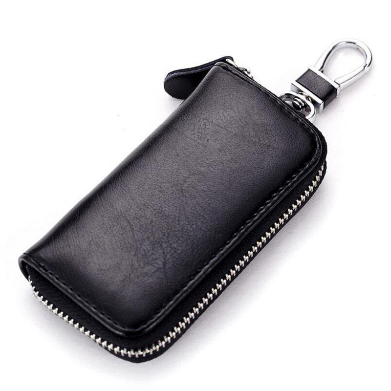 Fashion Multi-function Car Leather Business Zipper Key Case