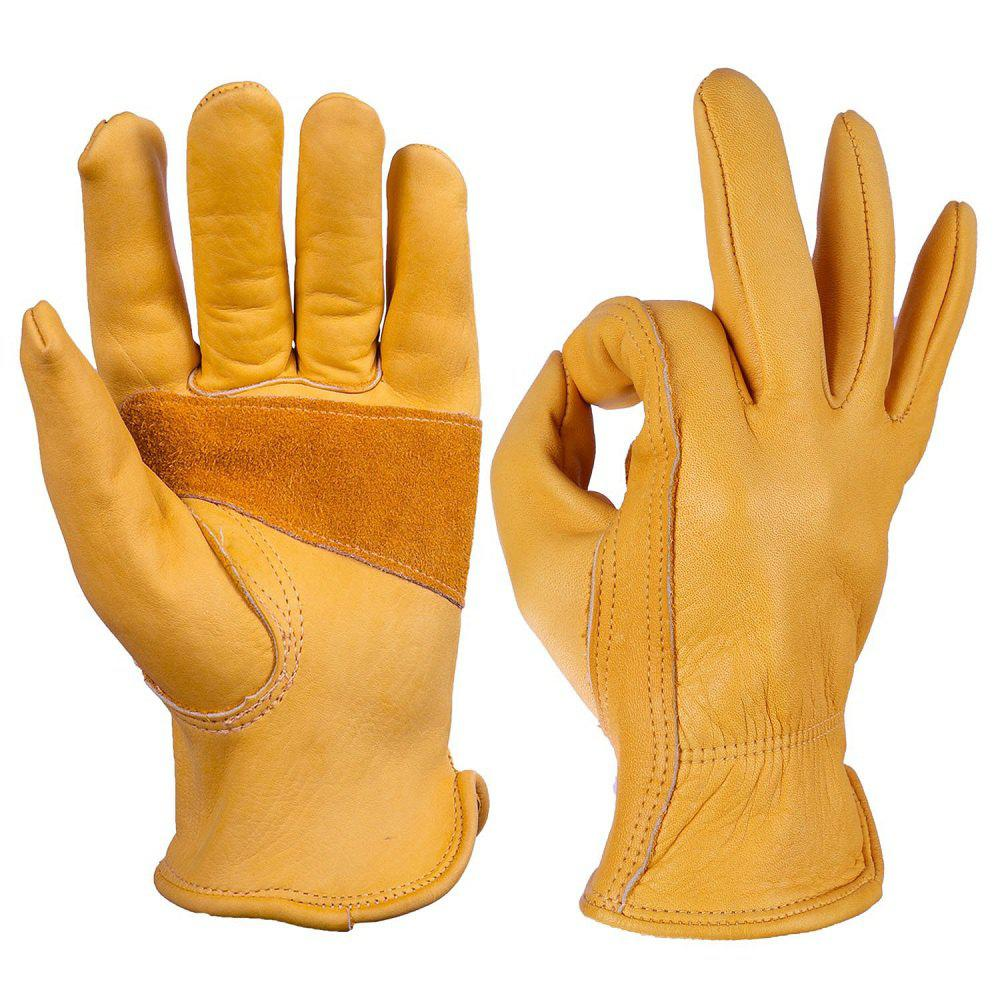 Affordable OZERO Work Gloves Cowhide Leather Good Grip and Durable For Working
