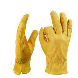 OZERO Cowhide Leather Riding Gloves Driving Garden Durable Wear-Resistant -