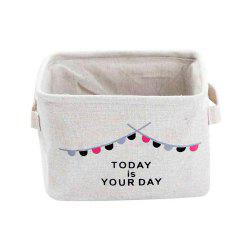 Cotton Linen Simple Household Sundries Foldable Bedroom Storage Basket -