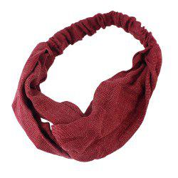 Solid Color Elastic Cotton Hairband accessory -