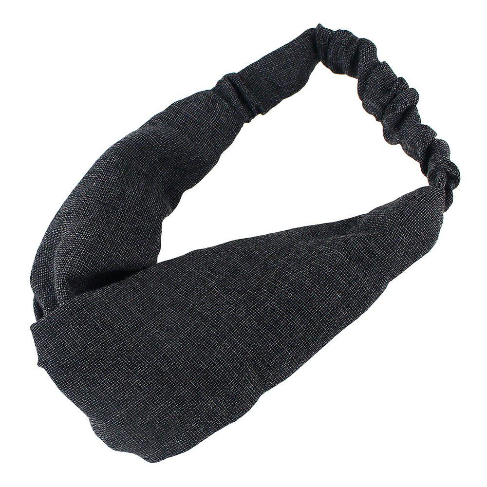 Online Solid Color Elastic Cotton Hairband accessory