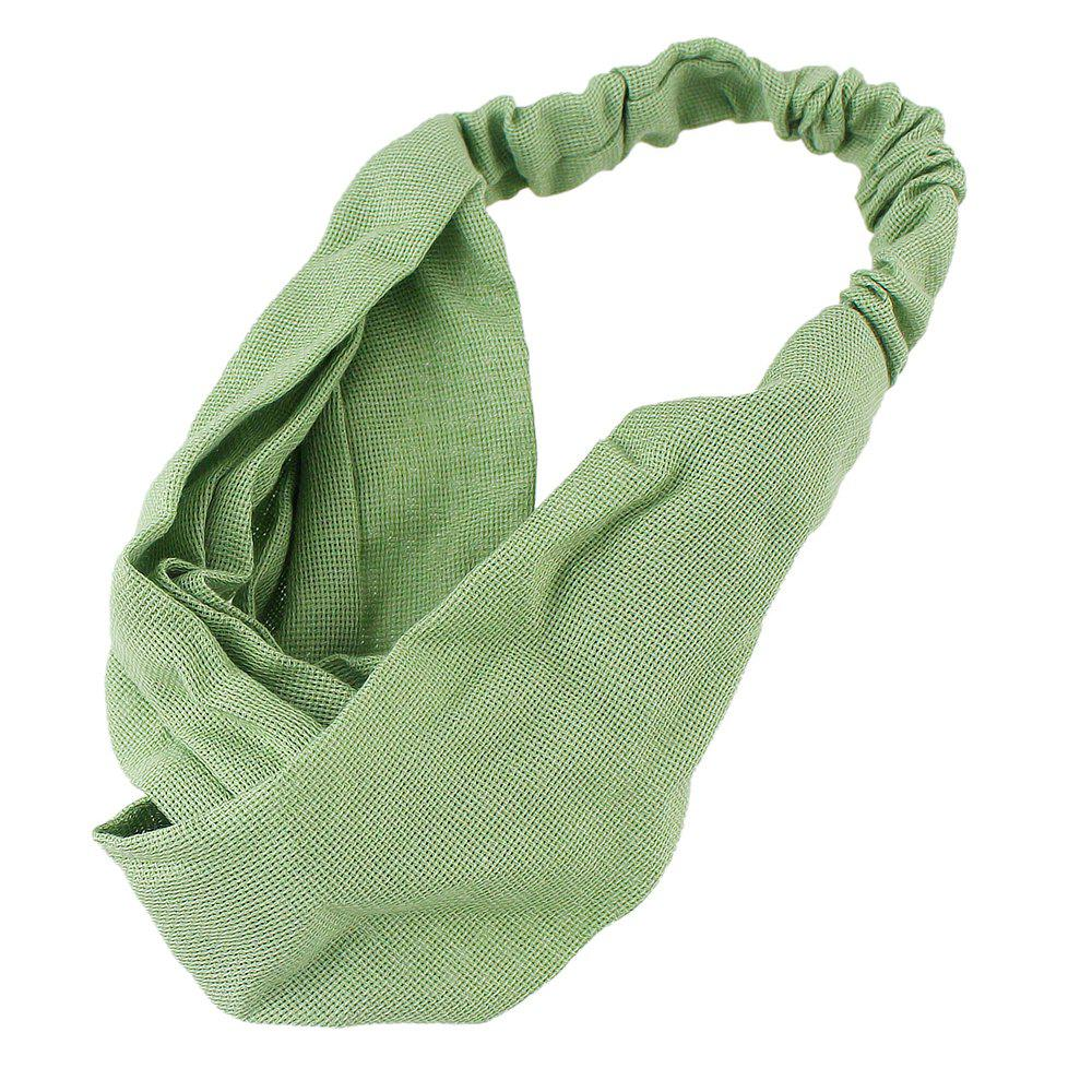 Shop Solid Color Elastic Cotton Hairband accessory
