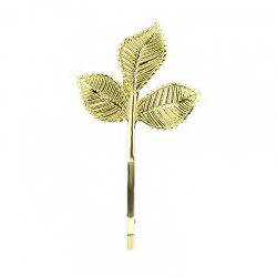 Fashion Leaf Shape Hairpin Gold-color -