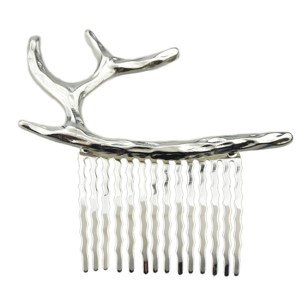 Buy Gold Silver Color Geometric Antlers Hair Combs