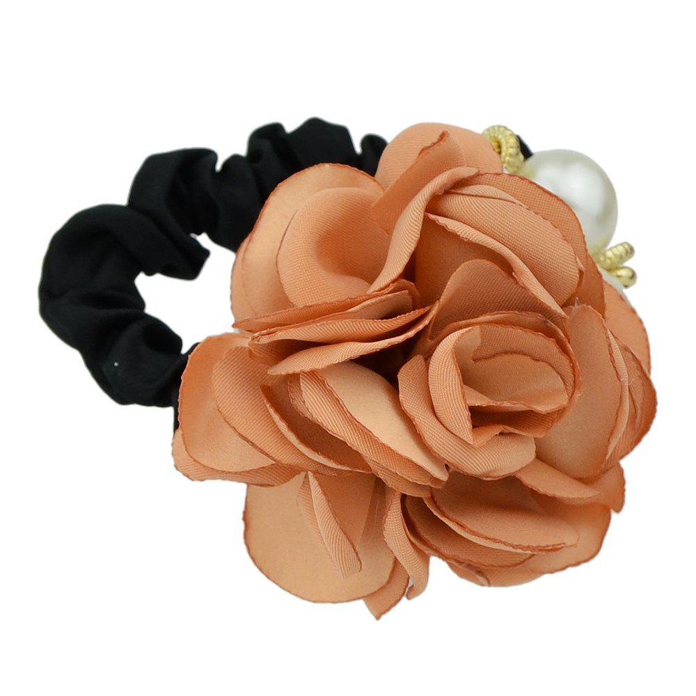 Fancy Black Elastic Rope with Colorful Flower Headband