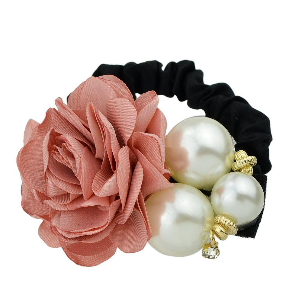 Store Black Elastic Rope with Colorful Flower Headband