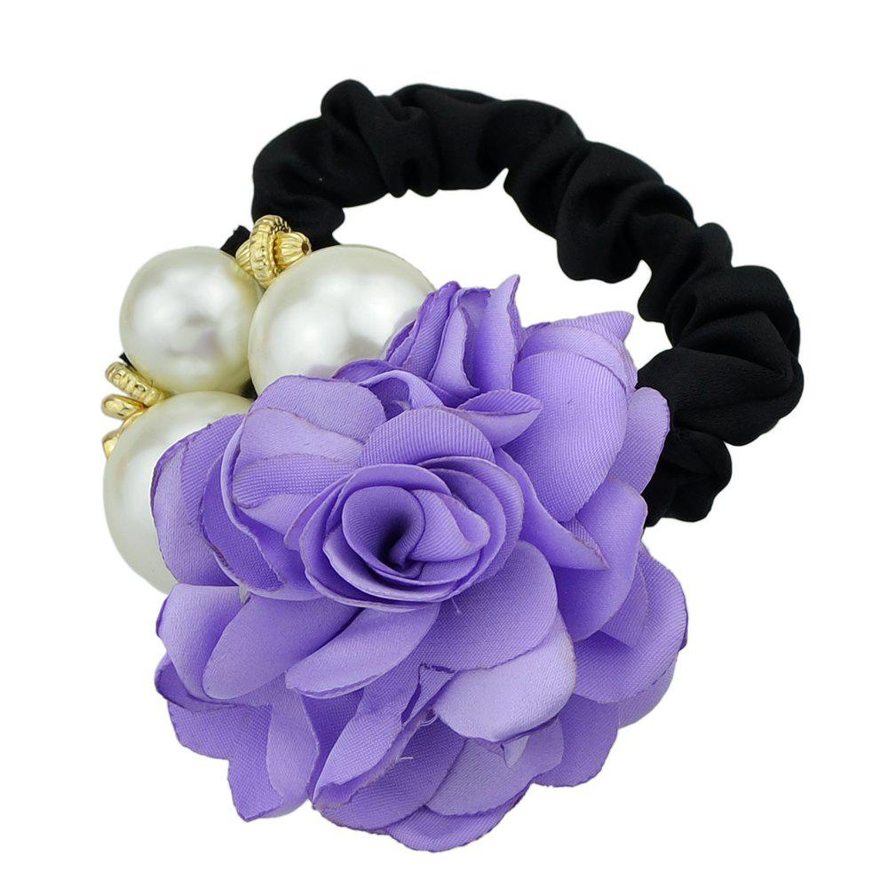 2018 Black Elastic Rope With Colorful Flower Headband In Aztech