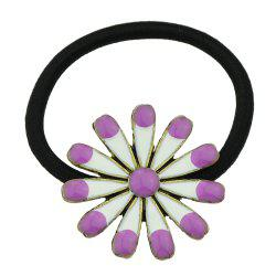 Elastic Rope with Colorful Enamel Flower Headband -