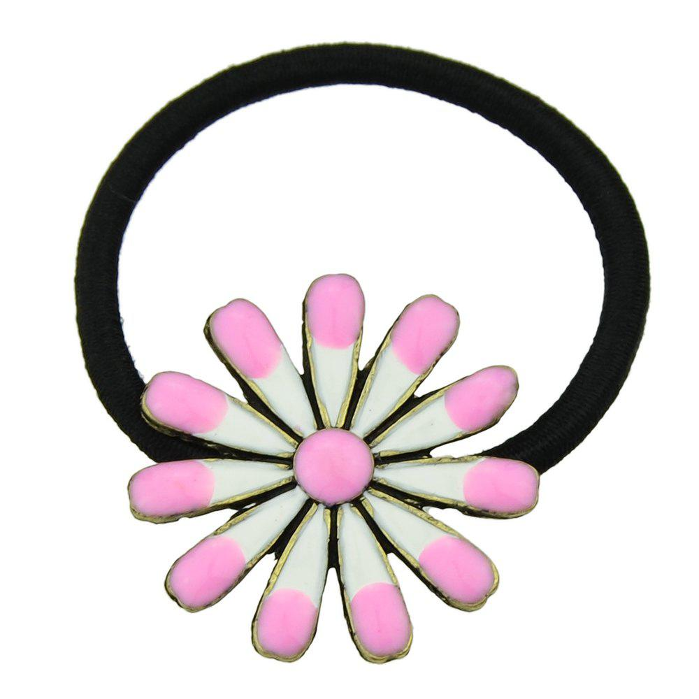Outfit Elastic Rope with Colorful Enamel Flower Headband