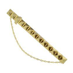 Punk Gold Color Long Hairpin Accessory with Chain -