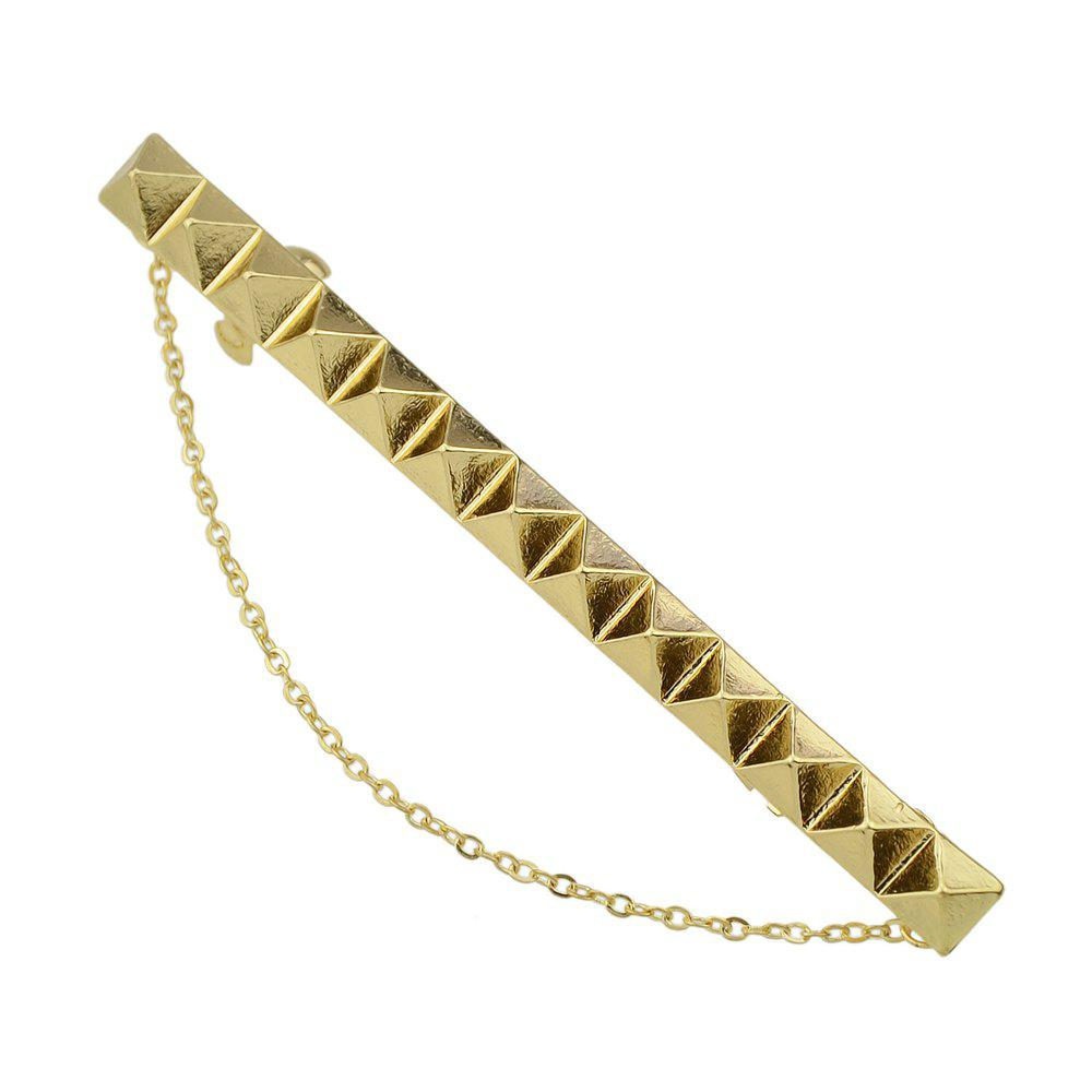 Affordable Punk Gold Color Long Hairpin Accessory with Chain
