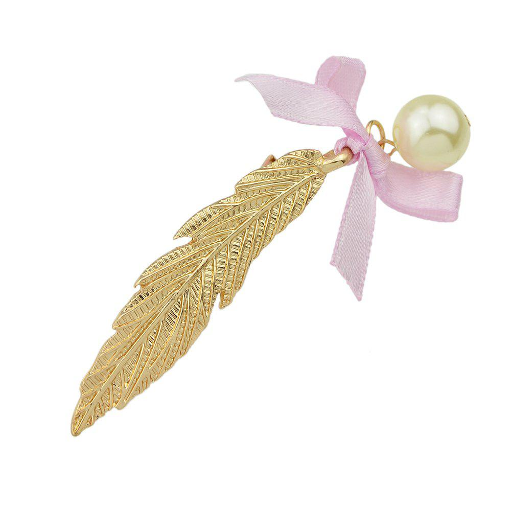 Discount Gold Silver Color Long Leaf Bowknot Hairpin