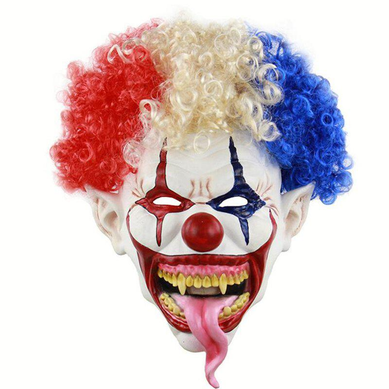 Fancy Halloween Explosion Head Big Mouth Long Tongue Clown Mask