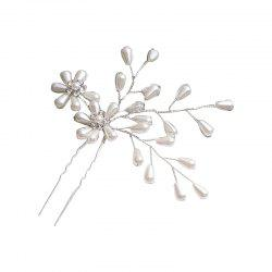 New Elegant and Elegant Bride Delicate Flower Headdress Hairpin -