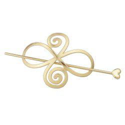 Minimalist Gold Silver Color Flower Hairpin -