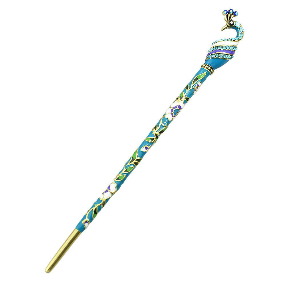 Affordable Court Colorful Enamel Peacock Long Hairpin