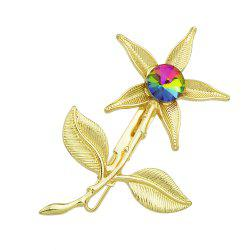 Gold Color Flower Hairpin for Women -