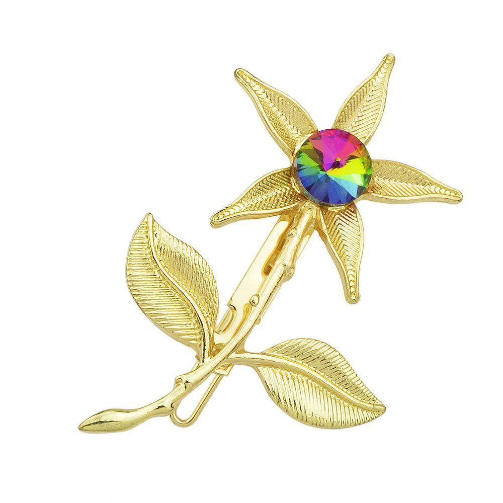 Fancy Gold Color Flower Hairpin for Women