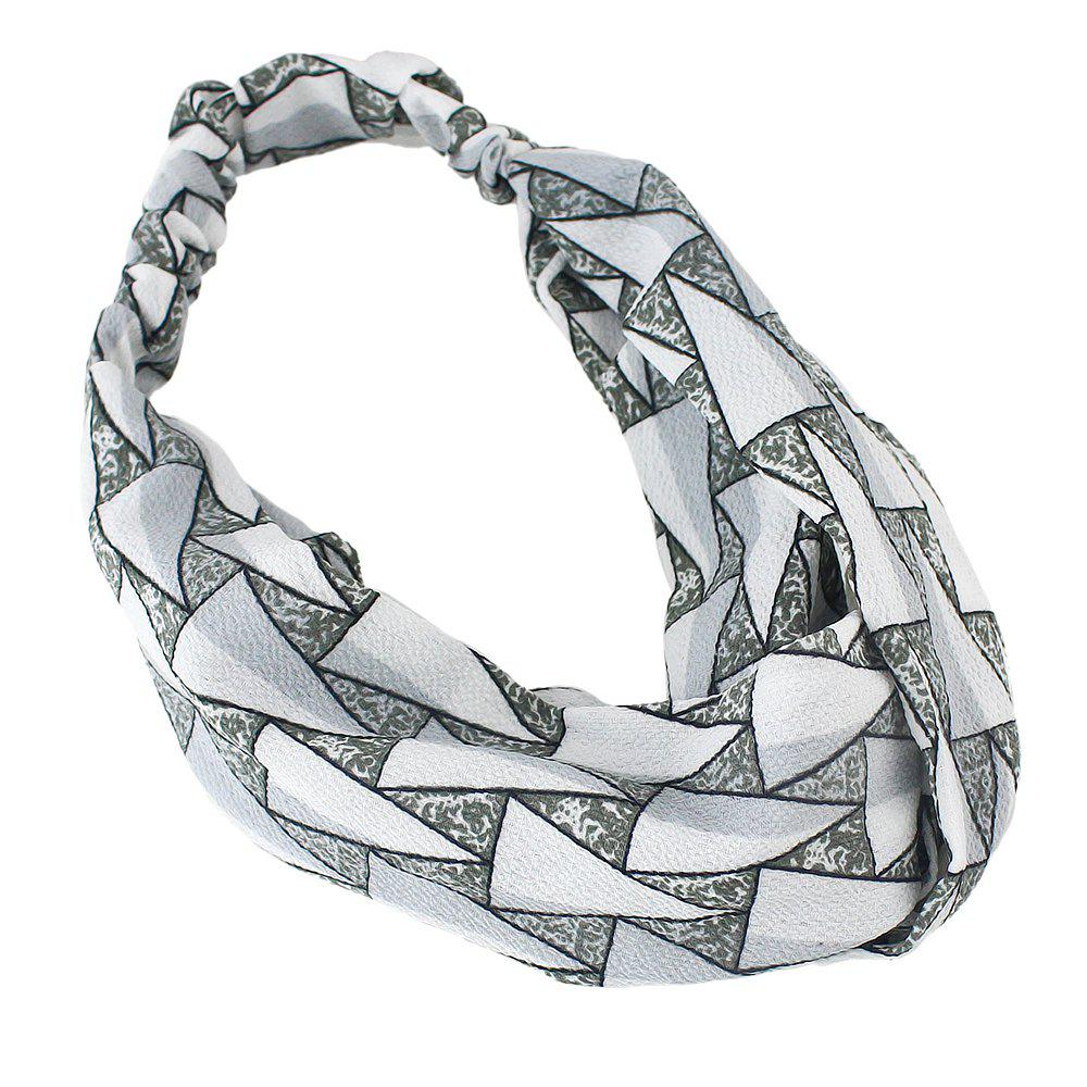 Fancy Polyester Geometry Printed Elastic Hairband