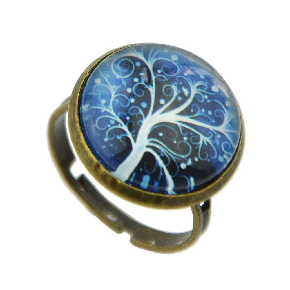 New Vintage Big Printing Tree Ring for Women