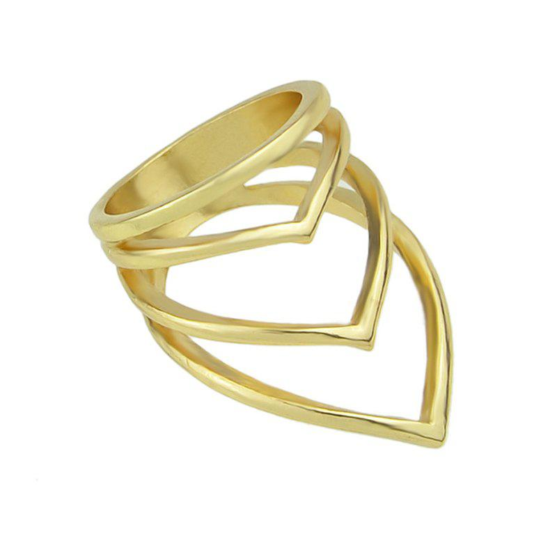 Trendy Steampunk Shape Hollow-out Geometry Ring