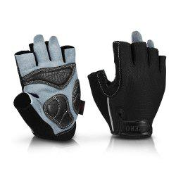OZERO Cycling Gloves Racing Bicycle MTB Gel Half Finger Gloves Soft Breathable -