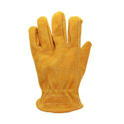 OZERO Work Gloves Driver Cowhide Magnet Adsorption Design Windproof -