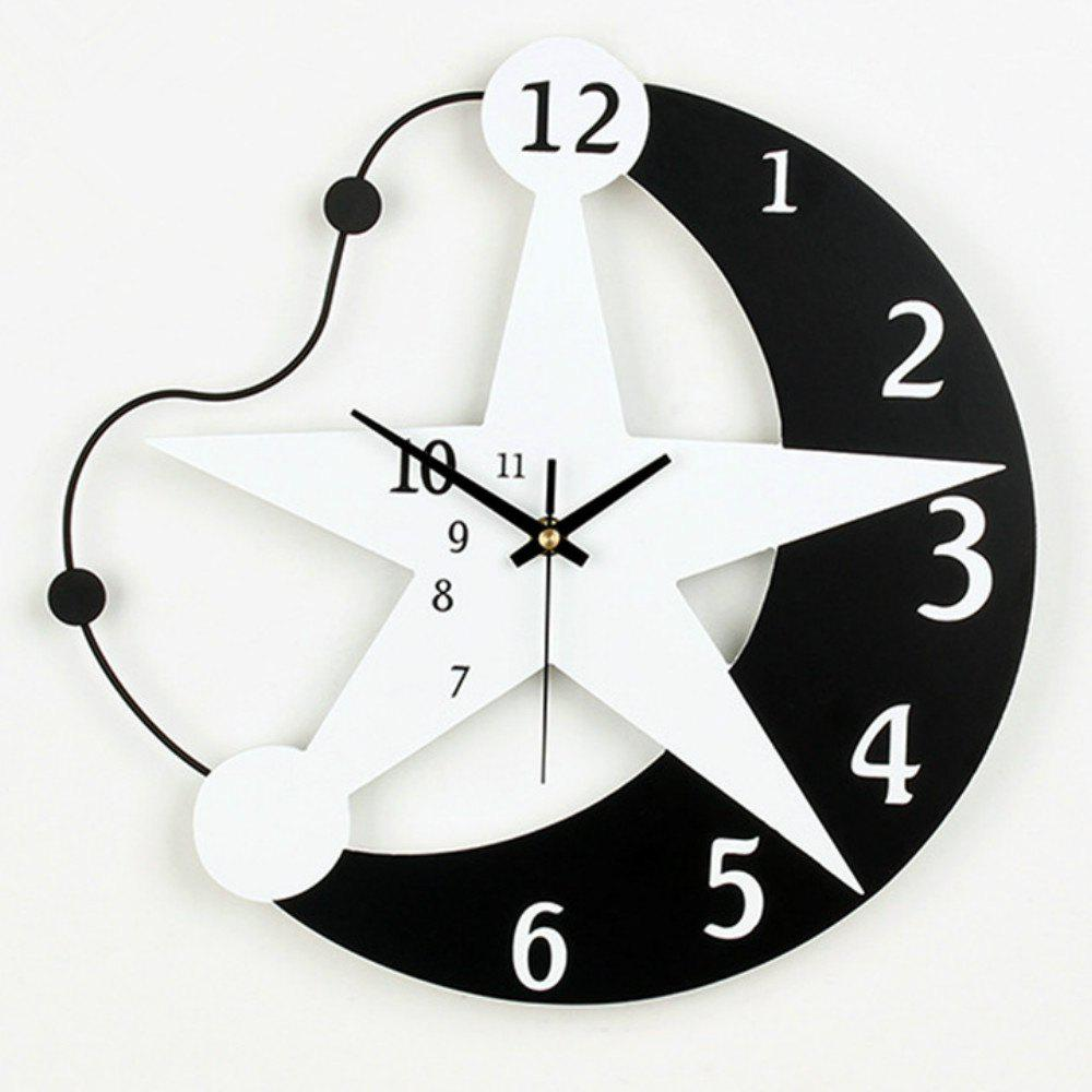 49% OFF] Creative 3D DIY Modern Wall Clocks Living Room Home Decor ...