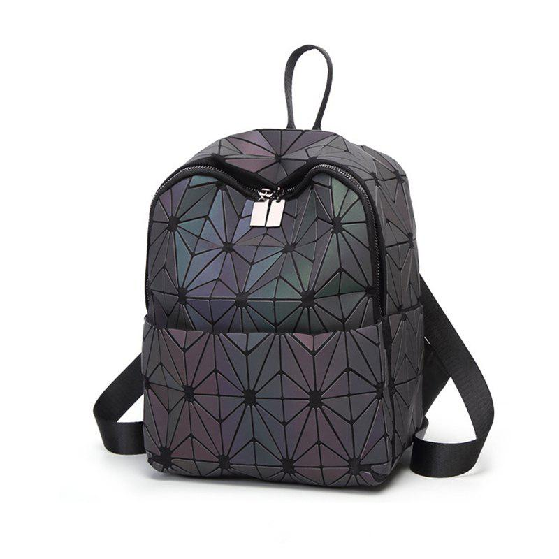 470687f733 2019 Fashion Luminous Backpack Women Geometric Back School Bag ...