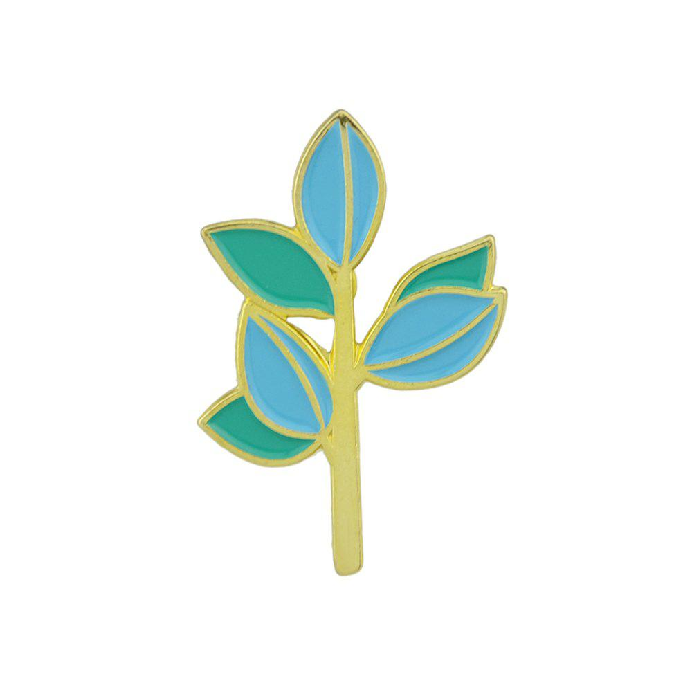 Buy Cute Lovely Gold-color With Enamel Branch Leaf Shape Brooch