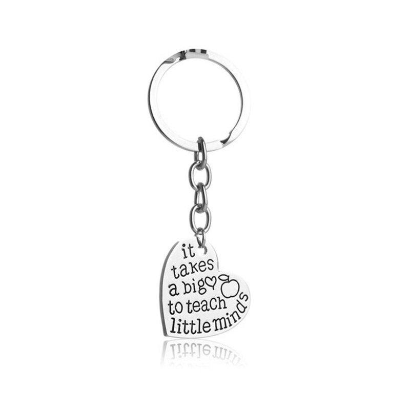 Outfit New Letter Big Little Minds Love Keychain Pendant