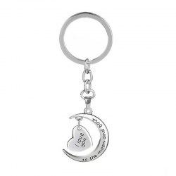 Nouvelle mode lune Couple Love Keychain -
