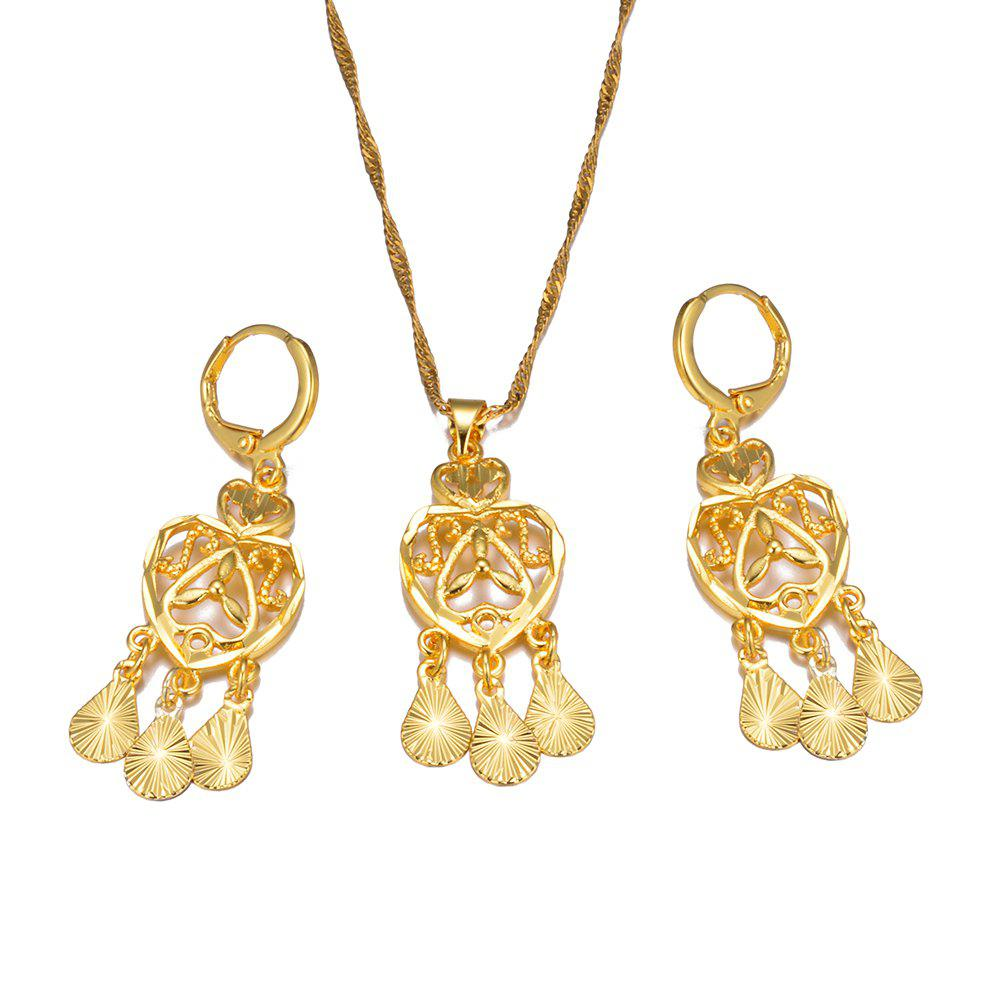 Affordable Tassel Jewelry Set Earrings Pendant Necklace