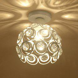 E27 Iron Crystal Chandelier Ceiling Lamp Light for Bedroom Hallway Kitchen Alley -