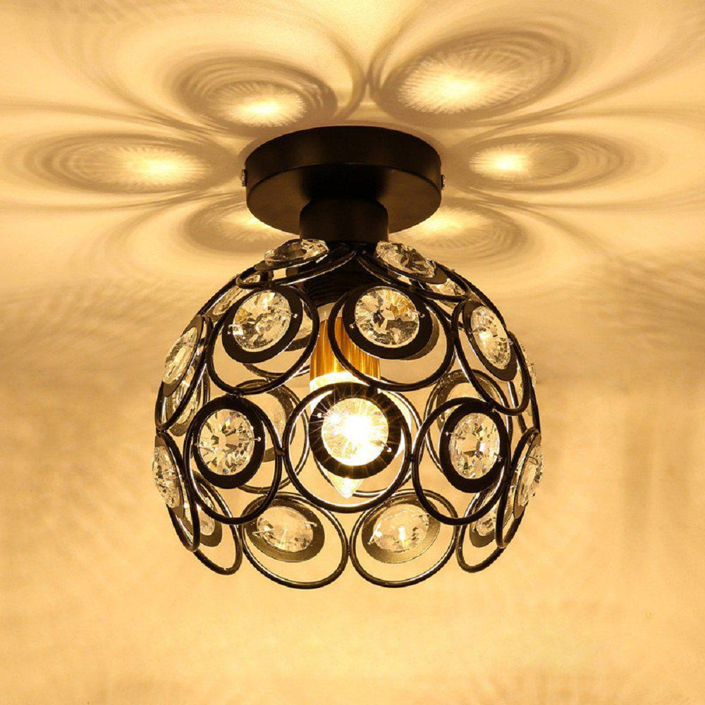 Shop E27 Iron Crystal Chandelier Ceiling Lamp Light for Bedroom Hallway Kitchen Alley