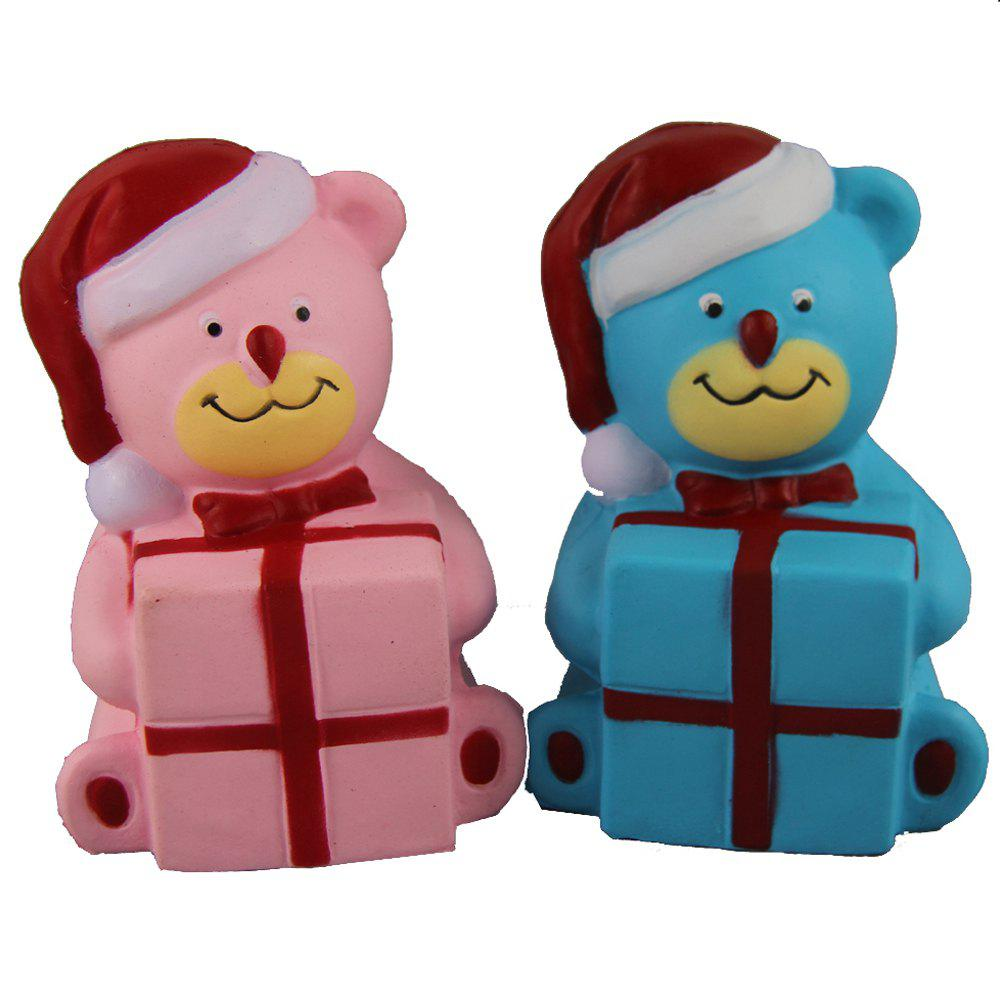 Outfits 2PCS Jumbo Squishy Christmas Bears with Box Toys