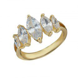 Fiançailles de mariage Simulated Crystal Women Finger Ring -