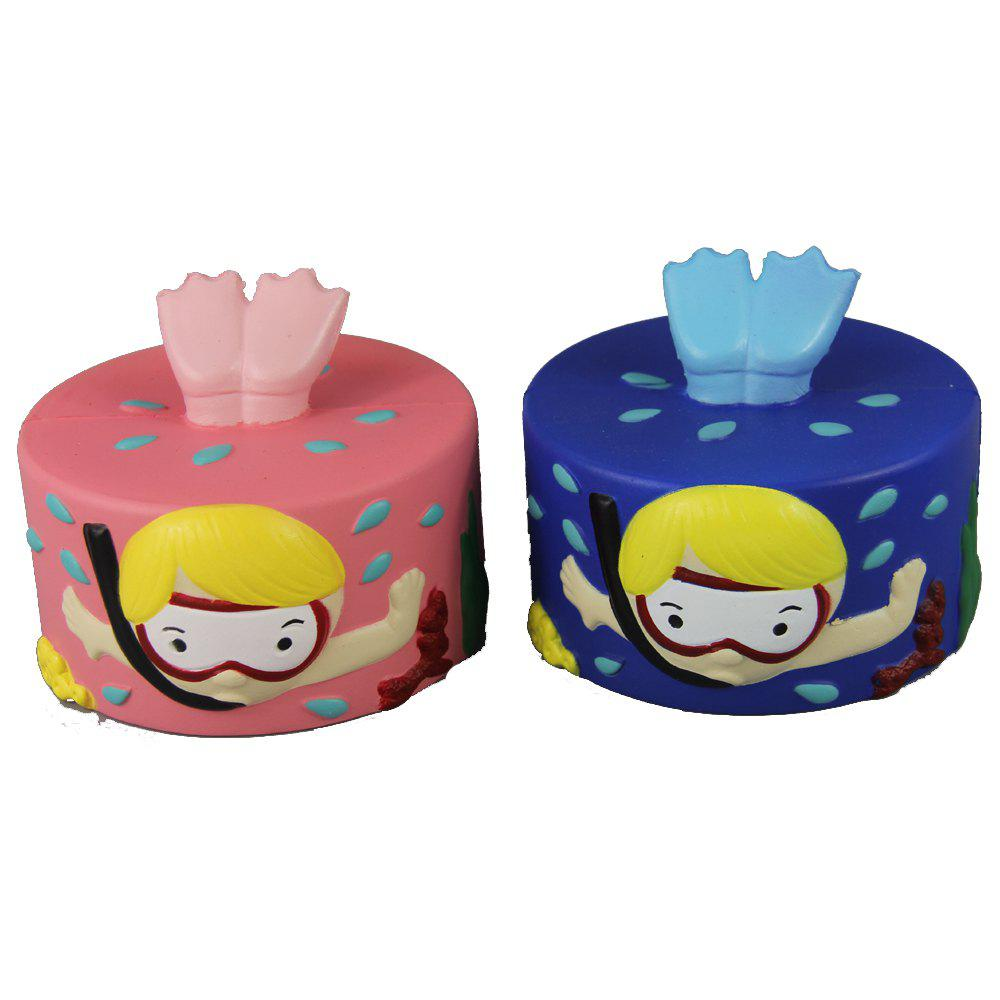 New 2PCS Jumbo Squishy Two Diver Cake Relieve Stress Toys