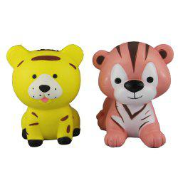 2PCS Jumbo Squishy Two Tigers Relieve Stress Toys -