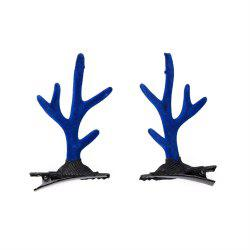 Children's Solid Color Cute Antler Jewelry Fashion Hairclip -