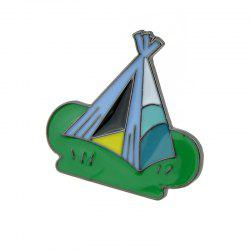 Small Lovely Colorful Enamel Tent Brooch -