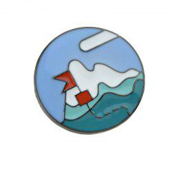 Small Lovely Colorful Enamel Mountain Brooch -