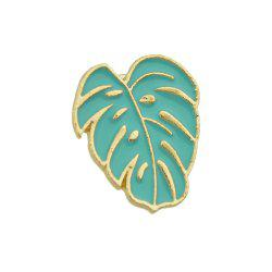 Cute Lovely Gold-color With Enamel Banana Leaf Shape Brooch -