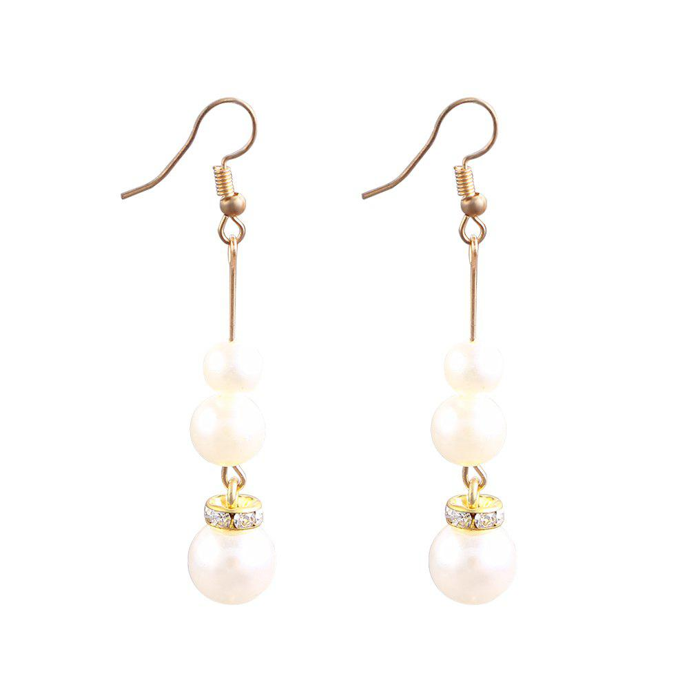 Cheap Temperament Style Fashion Three Pearl Pendant Earrings