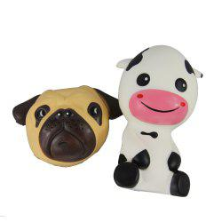 2PCS Jumbo Squishy Dog and Taurus Relieve Stress Toys -